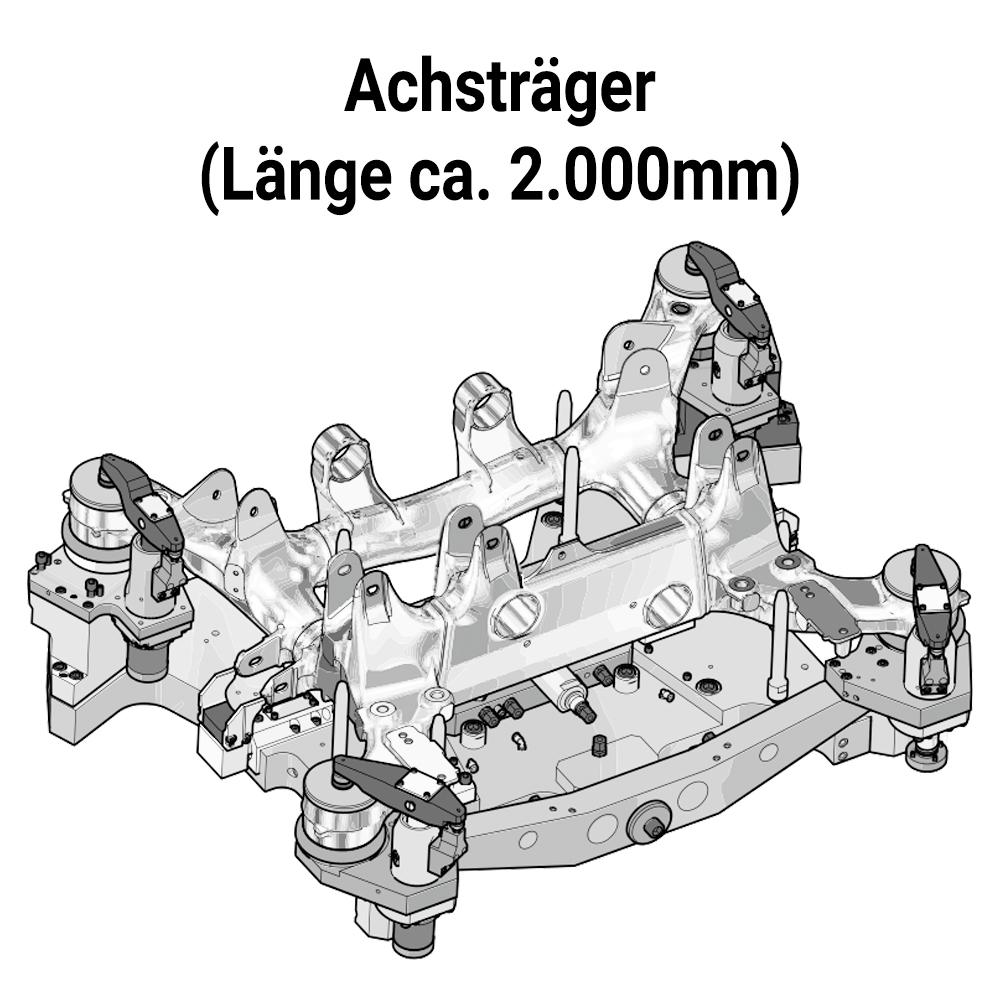 Zeichnung eines Achsträgers ca. 2.000mm